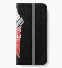 Embroidery Palestinian Map iPhone Wallet/Case/Skin