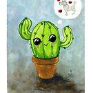 « le cactus qui reve d'un caniche » par Castel Yvonne