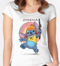 Ohana: Firefly/Stitch Mashup Women's Fitted Scoop T-Shirt