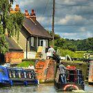 Into The Lock - Stoke Bruerne by SimplyScene