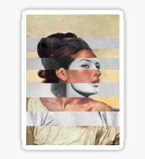 Delacroix's Orphan Girl at the Cemetery & Sophia Loren Sticker