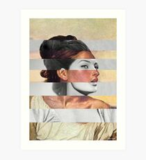 Delacroix's Orphan Girl at the Cemetery & Sophia Loren Art Print