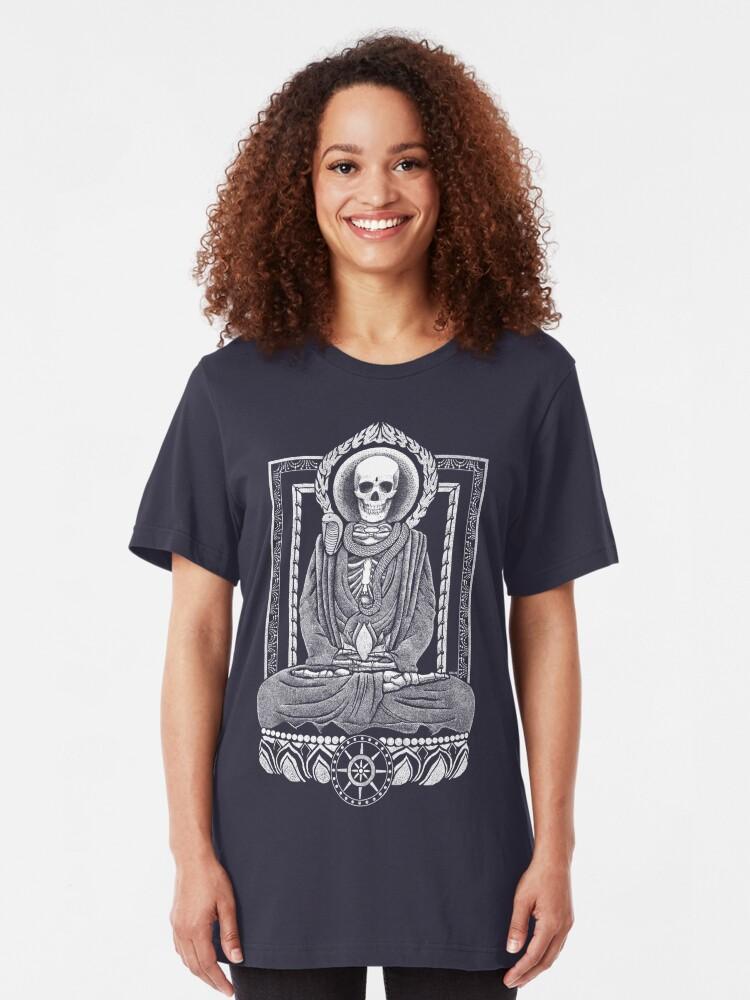 Alternate view of Gautama Buddha and Mucalinda Slim Fit T-Shirt