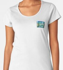 Abstract Landscape in Stained Glass  Women's Premium T-Shirt