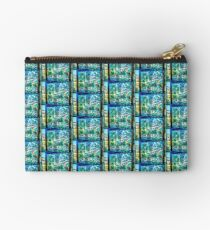 Abstract Landscape in Stained Glass  Studio Pouch