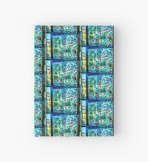 Abstract Landscape in Stained Glass  Hardcover Journal