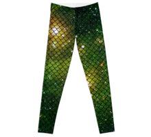 Mermaid in Space! (green edition) Leggings