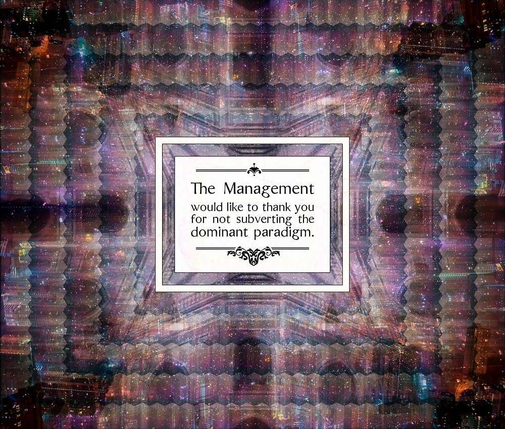 The Management Thanks You by QGPennyworth