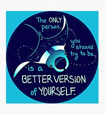 """The Only Person You Should Try to Be"" Galaxy Manta Ray Photographic Print"