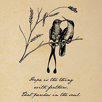 Emily Dickinson - Hope is the thing with feathers by 5pennystudio