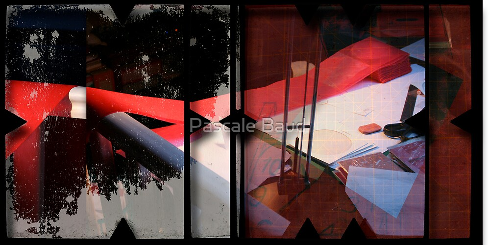 Open work about Open red (17) by Pascale Baud