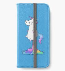 Einhorn Furz iPhone Flip-Case/Hülle/Klebefolie