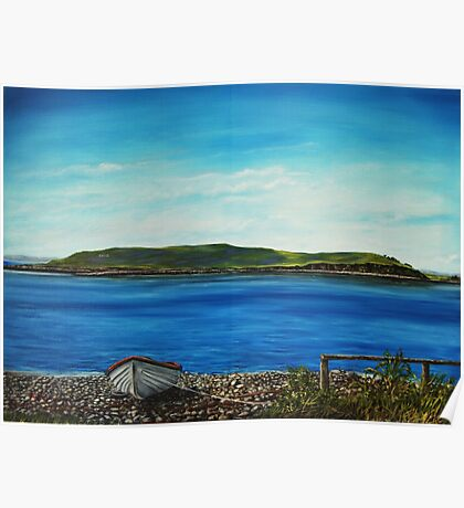 """View of Hog island, Cappa"" - Oil Painting Poster"