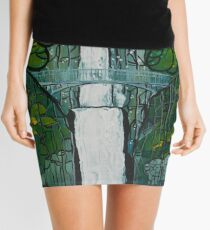 Multnomah Falls Painting Mini Skirt