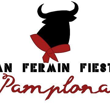San Fermin Run bulls Pamplona Spain encierros san fermines fiesta by GarciaPayan