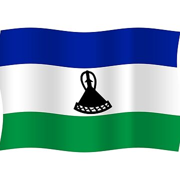 Lesotho flag waving by stuwdamdorp