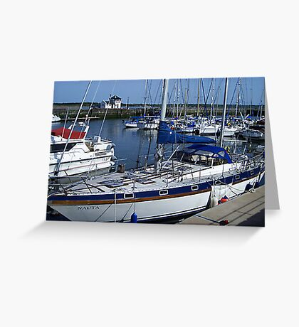 Caernarfon Harbour - North Wales Greeting Card