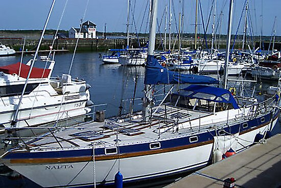 Caernarfon Harbour - North Wales by Trevor Kersley