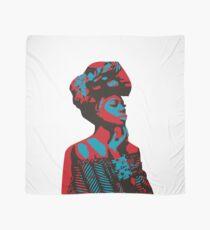 Afrikanerin rot & blau Tuch