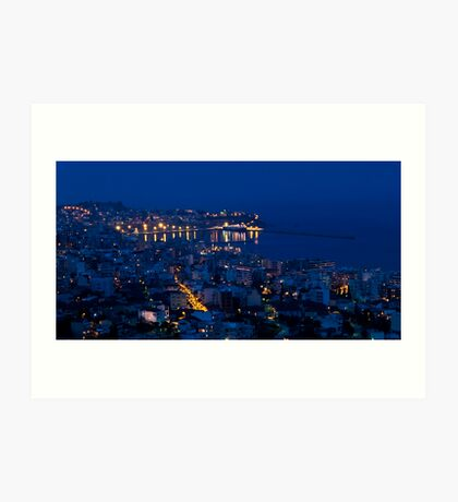 Kavala by night. Art Print