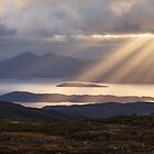 Applecross. Bealach na Ba. Summit View Sunbeams. North Coast 500.  Scotland. by Barbara  Jones ~ PhotosEcosse