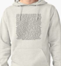 "Why Don't We ""Talk"" Lyrics Pullover Hoodie"