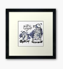 Are you my mummy? watercolor version Framed Print