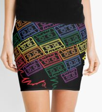Retro Rainbow Mini Skirt