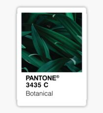 Color Swatch - Green Botanical Plant Sticker