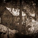 Winter Cabin by KirtTisdale