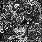Dame Doodle v3 (grey) by deRoodtDesigns