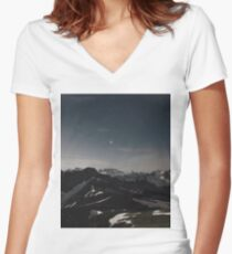 At the top Women's Fitted V-Neck T-Shirt