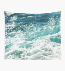 Blue Ocean Waves  Wall Tapestry