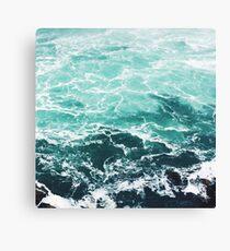 Blue Ocean Summer Beach Waves Canvas Print