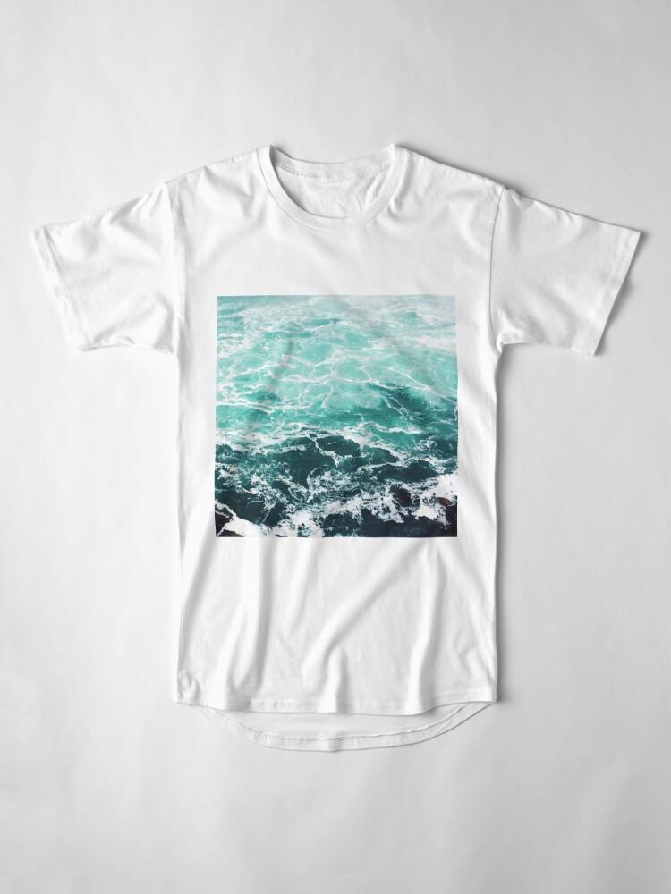 Alternative Ansicht von Blauer Ozean Sommer Strand Wellen Longshirt