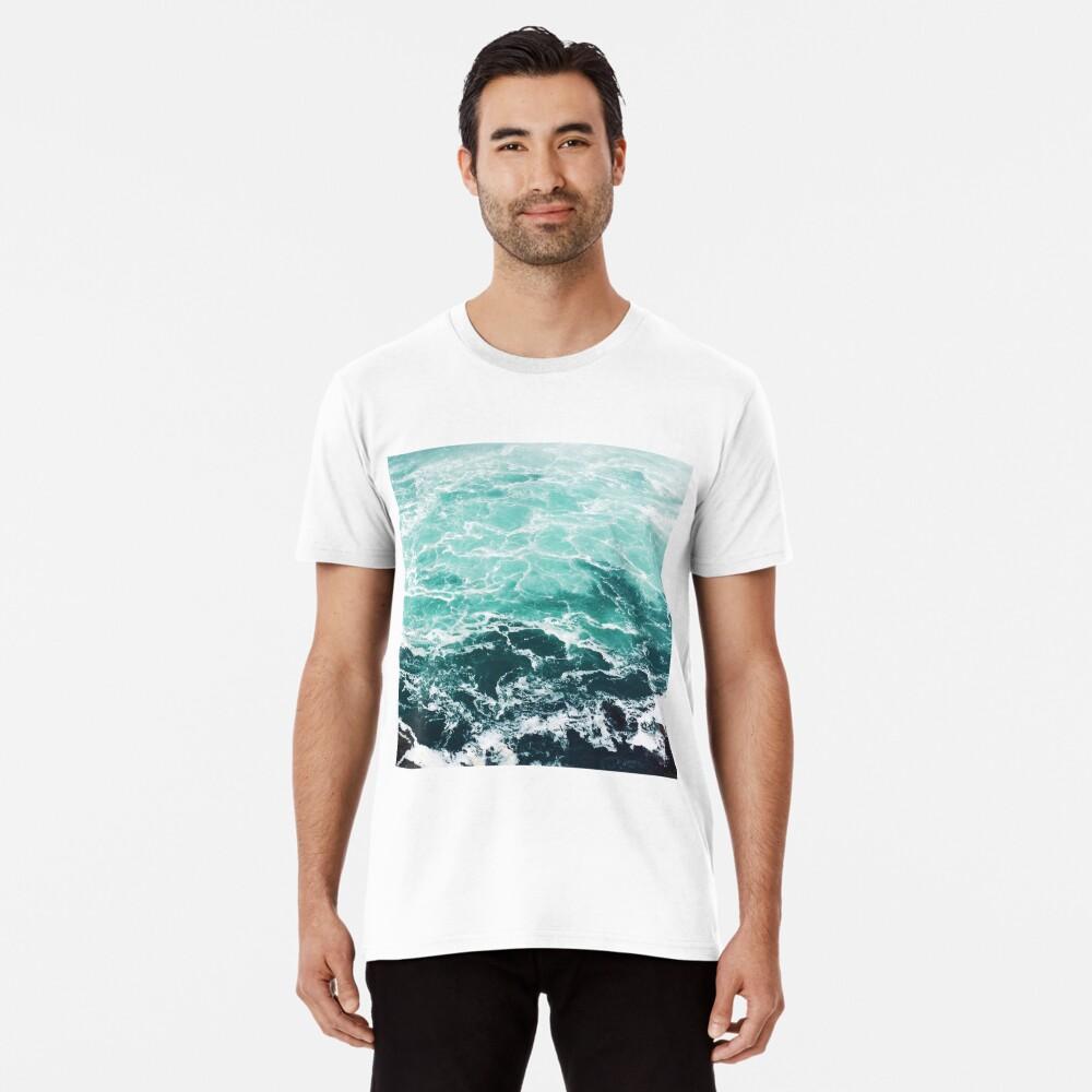 Blue Ocean Summer Beach Waves Premium T-Shirt