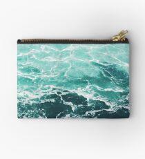 Blue Ocean Summer Beach Waves Zipper Pouch