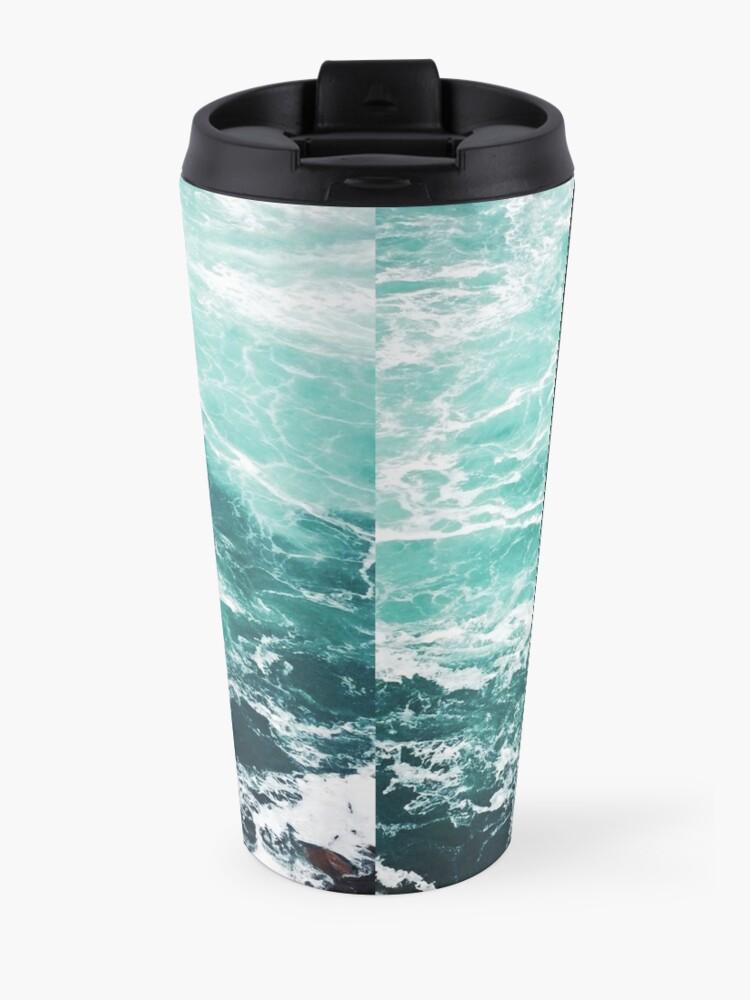 Alternative Ansicht von Blauer Ozean Sommer Strand Wellen Thermobecher