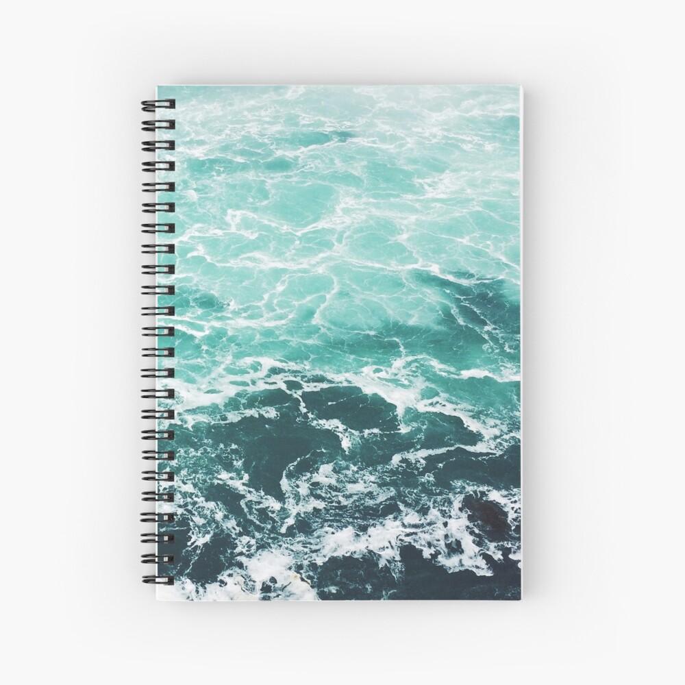 Blauer Ozean Sommer Strand Wellen Spiralblock