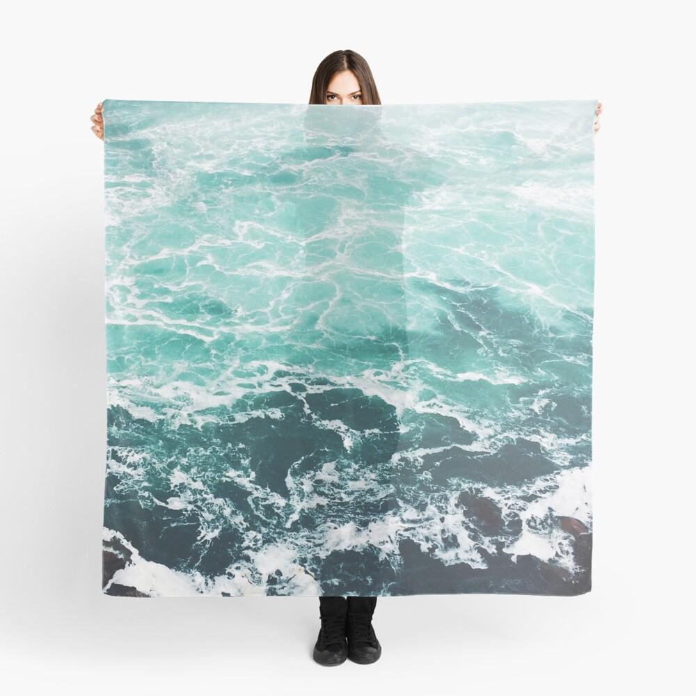 Blue Ocean Summer Beach Waves Scarf