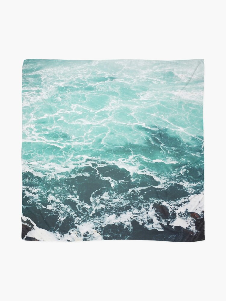 Alternate view of Blue Ocean Summer Beach Waves Scarf