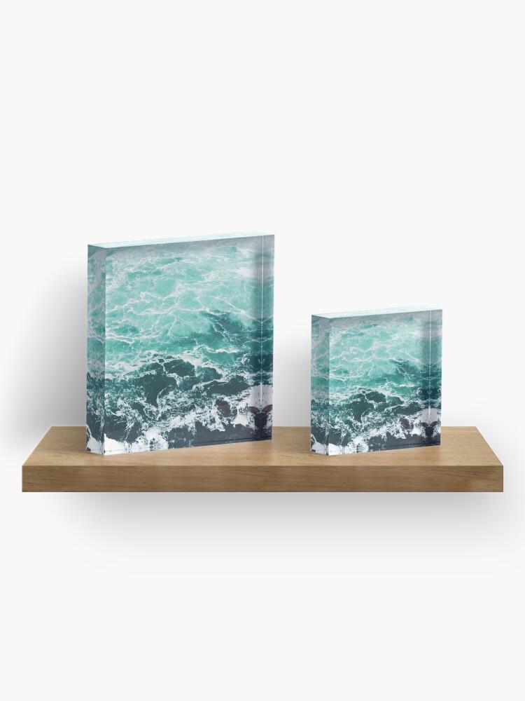 Alternative Ansicht von Blauer Ozean Sommer Strand Wellen Acrylblock