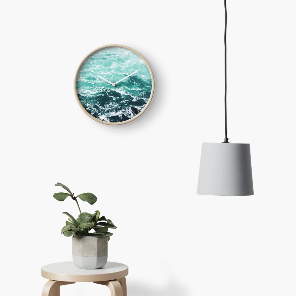 Blauer Ozean Sommer Strand Wellen Uhr