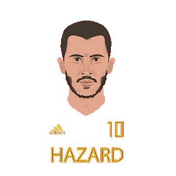 Eden Hazard Belgium Merchandise T-Shirt by urb4n