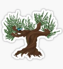 Angry Tree with Car Sticker
