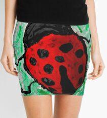 abstract ladybug Mini Skirt
