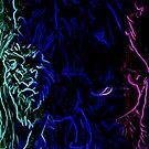 Noble Neon Lion by lilbudscorner