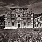 Church facade in B&W by Roberto Pagani