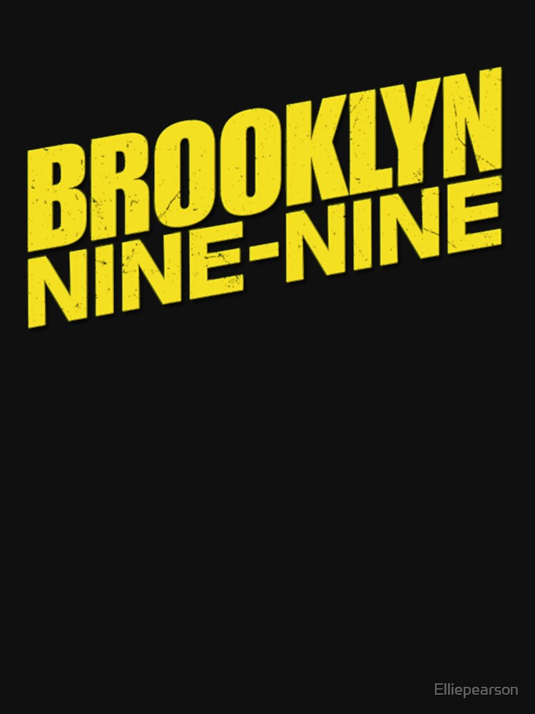 Brooklyn 99 Classic Black Background by Elliepearson