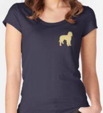 Golden Doodle Silhouette Women's Fitted Scoop T-Shirt